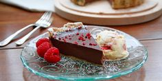 Try this delicious dark chocolate and hazelnut tart recipe from blogger Elly McCausland.