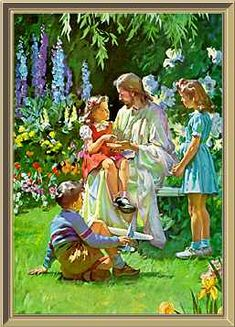page for jesus with children art and photography 634 total images Lds Art, Bible Art, Jesus Art, God Jesus, Harry Anderson, Jesus Pictures, Sacred Art, Religious Art, Jesus Loves
