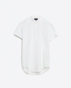 Image 6 of MANDARIN COLLAR SHIRT from Zara