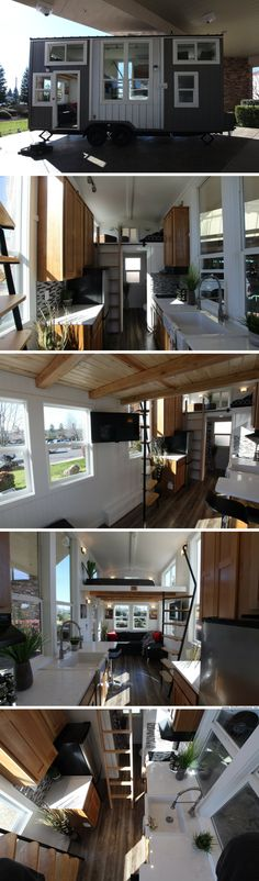 A 300-sq-ft tiny house from Rocky Mountain Tiny Houses, designed for Feather Falls Casino in Northern California!