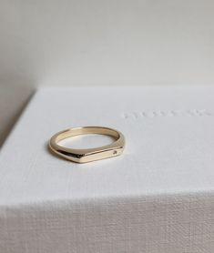Diamond Tiny Signet ring - Men's style, accessories, mens fashion trends 2020 Men's Jewelry Rings, Gold Jewelry, Jewellery, Jewelry Ideas, Diamond Solitaire Necklace, Tiny Diamond Ring, Band Engagement Ring, Blue Sapphire Rings, Signet Ring