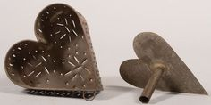 Punched Tin Heart Shaped Cheese Mold