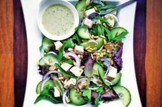Leafy Rotisserie Chicken Salad With Creamy Tarragon Dressing