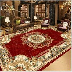 Ceiling Murals, Floor Murals, Floor Art, 3d Bathroom Floor Wallpaper, Small Parts Storage, Metallic Painted Furniture, Bedroom Flooring, Painted Floors, European Fashion