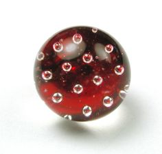 Antique Paperweight Glass Button Bubbles Suspended in Red Setup Circa 1870   eBay
