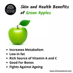 Green apples have a lot of health and #beauty #benefits to offer. They are packed with #nutrients, #fiber, #minerals, and #vitamins that are good for overall health. Here are some amazing benefits of green apples for #skin and overall #health. Apple Health Benefits, Juicing Benefits, Benefits Of Green Apples, Health Foods, Health And Nutrition, Healthy Tips, Healthy Meals, Vitamins For Skin, Arbonne