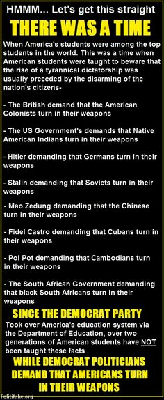 There was a Time when various groups in the world were forced to give up their weapons.  Every time that happened a dictatorship resulted in massive loss of freedom and lives.  Are You going to let that happen here in the USA???  #2ndAmendment  #SecondAmendment  #Guns  #GunControl  #Freedom