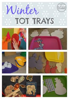 Winter Tot Trays (from Me & Marie Learning)