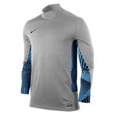 051f19847e8 Nike Long Sleeve Club Goalie Grey Blue Black Goalkeeper Jersey