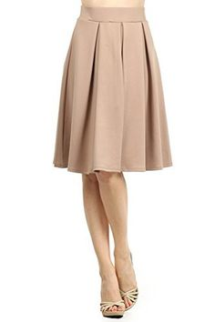 909bdb2cc4dd1 #womensfashion Modern Kiwi Emily Pleated Midi High Waisted Stretch Skirt:  Womenââ'