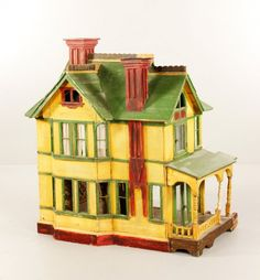 American, nice old house, great old colors. .....Rick Maccione-Dollhouse Builder www.dollhousemansions.com