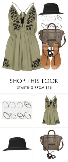 """""""Sin título #12769"""" by vany-alvarado ❤ liked on Polyvore featuring ASOS, River Island, Topshop, CÉLINE and London Rebel"""