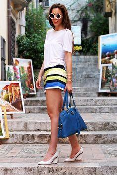 Blanco Pants, Asos Shoes, Yves Saint Laurent Bag, Asos Sunglasses