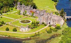 Ashford Castle on Lough Corrib, north of Galway, Ireland.