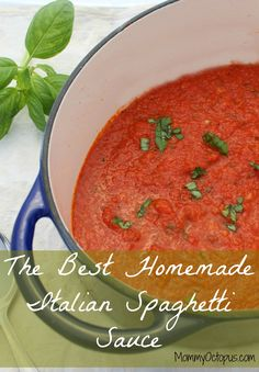 The Best Homemade Italian Spaghetti Sauce
