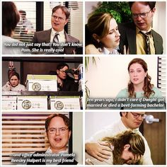 Pam and Dwight from The Office The Office Show, Office Tv, Movies Showing, Movies And Tv Shows, Office Jokes, Funny Office Quotes, Office Administration, Office Wallpaper, Michael Scott