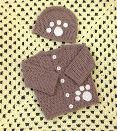 Yarn on Yarn off: Paw Print crochet cardigan FREE