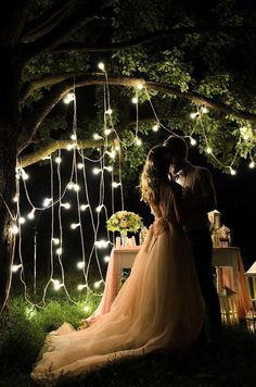 47 Starry Night Wedding Ideas You Can't Resist Wedding Ceremony Ideas, Night Wedding Photos, Night Time Wedding, Starry Night Wedding, Tree Wedding, Bridesmaid Bouquet, Wedding Bridesmaids, Wedding Goals, Wedding Blog