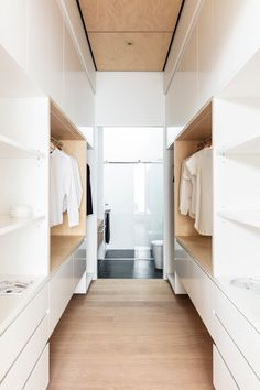 Manly heritage semi cottage renovation, with stunning modern architect design addition. Walk In Closet Design, Bedroom Closet Design, Walk In Robe Designs, Closet Designs, Wardrobe Room, Walk In Wardrobe, Walk Through Closet, Cottage Renovation, Home Technology