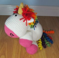 Hey, I found this really awesome Etsy listing at https://www.etsy.com/listing/255135797/stuffed-unicorn-crochet-stuffed-animal