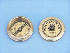 """Navy Brass Pocket Compass 3"""" - Brass Military Compass - Nautical Decor - Nautical Gifts For Men - Marine Compass - Nautical Accessory- Brass Pocket Compass - Brand New by Handcrafted Model Ships. $24.99. Overall dimensions: 3"""" L x 3"""" W x 1"""" H. We ship daily - $7.95 Shipping to the lower 48 US States - Express and overnight shipping available - Contact Us. In business since 1959 - Buy with confidence - 100% money back guarantee. Buy factory direct --- All items manufactured, ..."""
