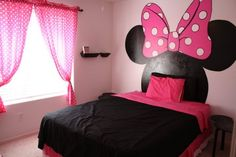Disney Minnie mouse room, we all know my daughter will have this one day!