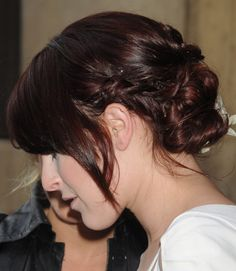 Rumer Williss chignon hairstyle