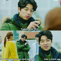 GOBLIN : When GongYoo try to help his friend get the girl back