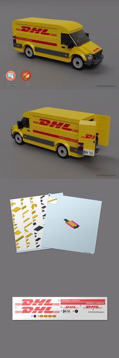Instruction Manuals 183449 Custom Stickers And Ins Lego Van, Lego Mecha, Lego Robot, Lego Batman, Lego Technic, Lego Pokemon, Lego Auto, Lego Truck, Lego Modular