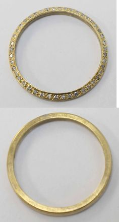 Bezels and Inserts 57714: Rolex Custom 14K Yellow Gold And 1.35Tcw Diamond Watch Bezel - 30.5Mm -> BUY IT NOW ONLY: $750.0 on eBay!