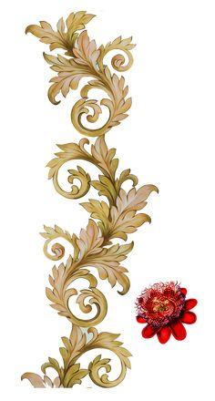 Textile Pattern Design, Baroque Pattern, Motif Design, Pattern Art, Baroque Design, Baroque Art, Folk Art Flowers, Botanical Flowers, Floral Motif