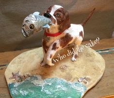 Dog cake for 2015 CBSS made by Helen Wilkinson of Who did the cake. Dog Birthday, Birthday Cakes, Caramel Mud Cake, 3d Dog, Dog Cakes, Felt Dogs, Character Cakes, Novelty Cakes, Cake Art
