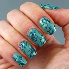 DIGIT-AL DOZEN WEEK: Monochrome Teal Floral