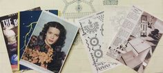 A selection of vintage & lace papers you will be able to combine with your prints