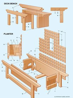 Planter Plans | Deck Bench and Planter Project Plans