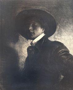 Odd Nerdrum - Mann med hatt art