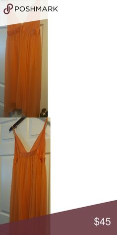 e06c09276ad0 Dress Beautiful orange dress from Banana Republic. This looks great at a  see wedding.