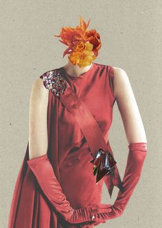 In his Secret Garden series, which we spotted over at Trendland, German collage…
