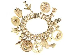 MUST HAVE GOLD CHARM BRACELET!  @Hillary Pennell (wanted to tag Kaki but she doesn't have Pinterest!)