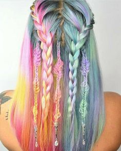 40 amazing ideas for Mermaid Hair - Colourful Hair - Hair Color Pretty Hairstyles, Braided Hairstyles, Mermaid Hairstyles, Everyday Hairstyles, Wedding Hairstyles, Red Hairstyles, Party Hairstyle, Updo Hairstyle, Quick Hairstyles