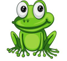 free frog clip art image cute green cartoon frog with big smile rh pinterest com