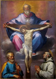 Ventura Salimbeni - The Throne of Mercy with Sts. Peter and Bruno