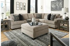 Bovarian 3-Piece Sectional | Ashley Furniture HomeStore 4 Piece Living Room Set, Living Room Sets, Home Living Room, Sectional Ottoman, 3 Piece Sectional Sofa, Couches, Tiny Living Rooms, Ashley Home, Fine Furniture