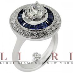 3.65 Carat E-SI1 Vintage Style Natural Round Diamond Engagement Ring 18k Gold - Vintage Style Engagement Rings - Engagement - Lioridiamonds.com