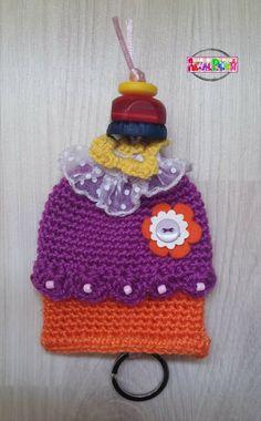 Llaveros cupcake a crochet http://frilan-mirinconcito.blogspot.com.es/search/label/cupcake