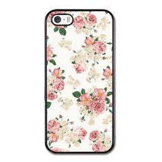 Floral Pattern iPhone 5/5S Rubber Case Black iPhone 5/5S Rubber Case |... (€20) ❤ liked on Polyvore featuring accessories, tech accessories, phone cases, phones, fillers, iphone cases, iphone cover case, floral iphone case, iphone rubber cases and apple iphone case