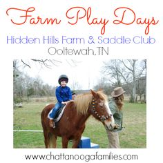 Farm Play Days at Hidden Hills Farm & Saddle Club are a fun way to spend the day at the farm. Pony rides, chasing chickens, hayrides, and more! In Ooltewah, TN outside of Chattanooga, TN #Chattanooga #TN #farm