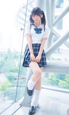 Girl in Uniform 😘 Cute School Uniforms, School Uniform Fashion, School Girl Outfit, School Uniform Girls, Student Fashion, Girls Uniforms, Girl Fashion, Girl Outfits, Estilo Harajuku