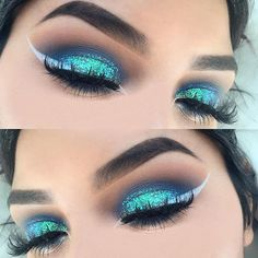 Double tap if you love mermaid makeup @vmariexoxo_ used our Colored Felt Tip Liner in 'White' for this look Click the link in our bio to shop our IG gallery!    #nyxcosmetics #nyxprofessionalmakeup