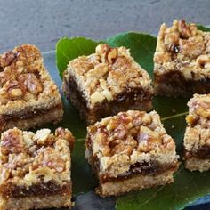 Whole-Wheat Walnut Fig Squares
